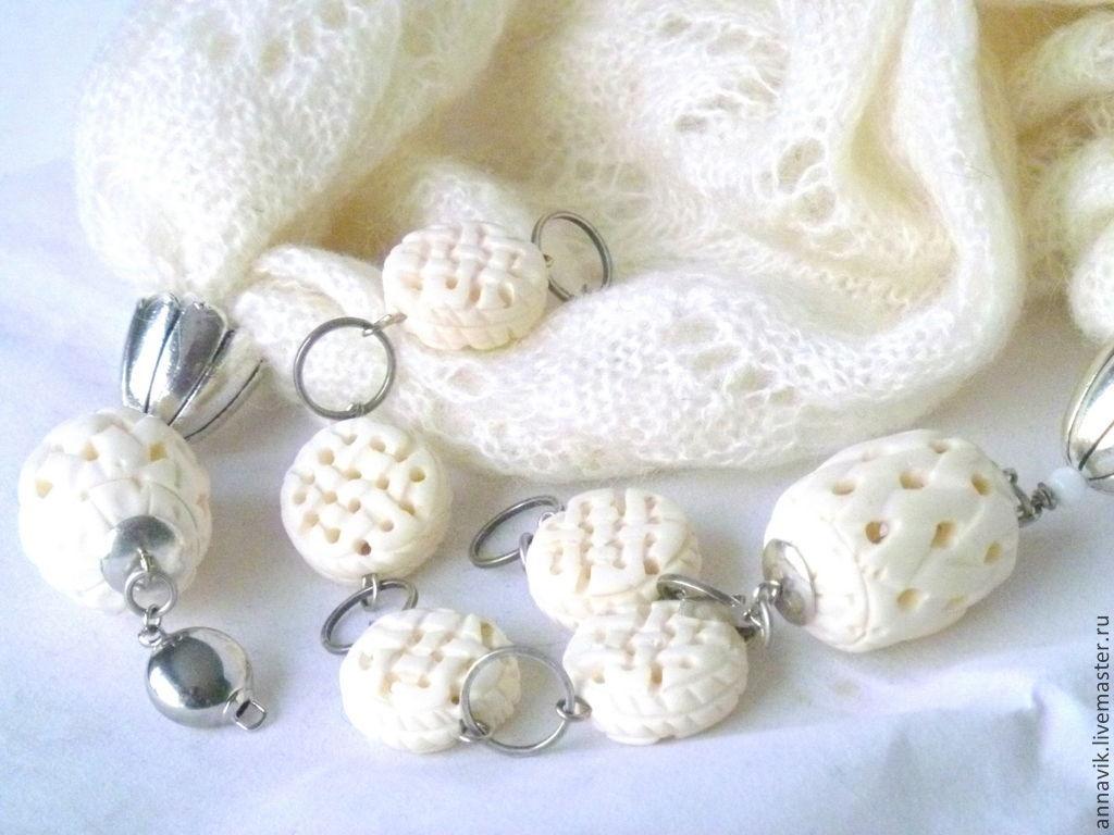 Warm necklace-transformer (set) 'Zimushka-2', Necklace, Moscow,  Фото №1