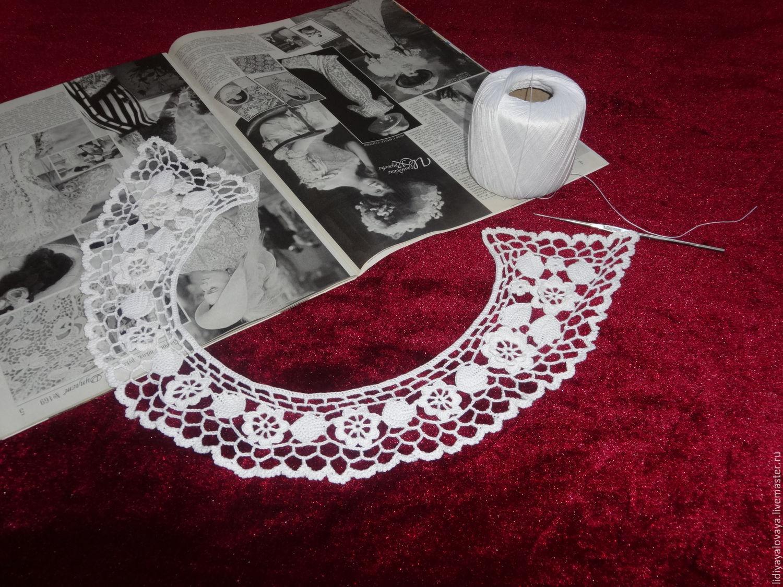 Irish crochet antique lace collar Irish crochet lace collar, vintage collar, crochet collar, collar is knitted, the collar slip