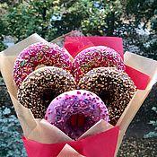 Букеты ручной работы. Ярмарка Мастеров - ручная работа Букет из пончиков. Handmade.