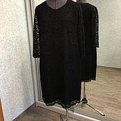 Одежда ручной работы. Ярмарка Мастеров - ручная работа Платье чёрное. Гипюр. Handmade.