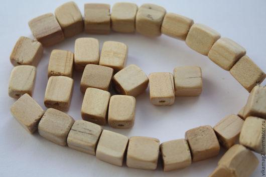 Для украшений ручной работы. Ярмарка Мастеров - ручная работа. Купить Деревянные бусины кубики из экзотического Палочина  ОСТАТОК 2 ШТ. Handmade.