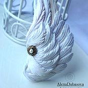 """Украшения ручной работы. Ярмарка Мастеров - ручная работа Брошь """"Белое крыло"""". Handmade."""