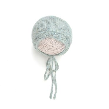 Clothing handmade. Livemaster - original item Cap newborn photo shoots gray-green. Handmade.