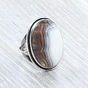 Украшения handmade. Livemaster - original item Agate coffee-milk (ring) (1002). Handmade.