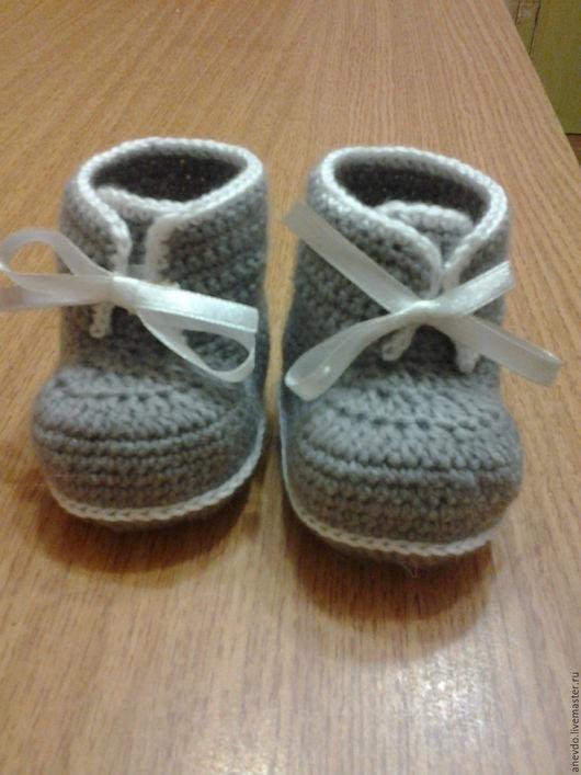 Детская обувь ручной работы. Ярмарка Мастеров - ручная работа. Купить пинеточки. Handmade. Пинетки, пинетки детские, хлопок