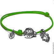 Украшения handmade. Livemaster - original item Ladybug, rope bracelet. Handmade.