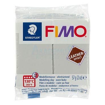 Материалы для творчества ручной работы. Ярмарка Мастеров - ручная работа Фимо FIMO Leather Effect полимерная глина 8010-809 серо-голубой. Handmade.