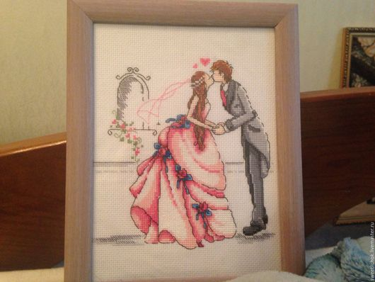 Люди, ручной работы. Ярмарка Мастеров - ручная работа. Купить Свадьба. Handmade. Комбинированный, юноша, картина в подарок, рама деревянная