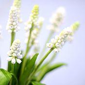 Подарки к праздникам handmade. Livemaster - original item Muscari white. Floral sculpture.A gift for the New Year.. Handmade.