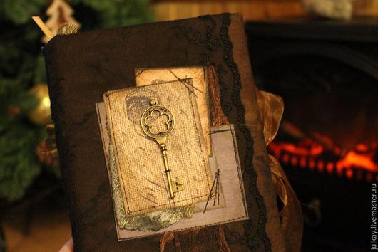 """Блокноты ручной работы. Ярмарка Мастеров - ручная работа. Купить Блокнот ручной работы """"Сказки Снежной Королевы"""". Handmade. Черный"""