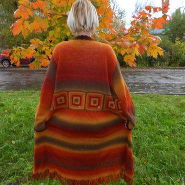 Одежда ручной работы. Ярмарка Мастеров - ручная работа Вязанный кардиган в стиле бохо. Handmade.