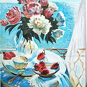 Картины ручной работы. Ярмарка Мастеров - ручная работа Картина маслом Солнечный день на море. Handmade.