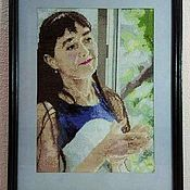 Картины ручной работы. Ярмарка Мастеров - ручная работа Портрет вышитый по фотографии. Handmade.