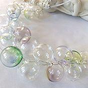 Украшения handmade. Livemaster - original item Necklace from beads of blown soap bubbles .Lampwork. Handmade.