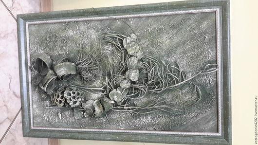 Фантазийные сюжеты ручной работы. Ярмарка Мастеров - ручная работа. Купить Картина в стиле терра.. Handmade. Зеленый, картина в подарок