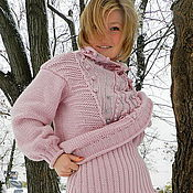"""Одежда ручной работы. Ярмарка Мастеров - ручная работа +""""РОЗОВЫЙ ФЛЁР"""" свитер + юбка. Handmade."""
