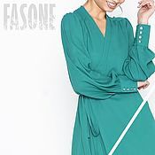 Одежда handmade. Livemaster - original item Turquoise summer dress