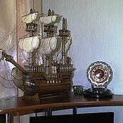 Модели ручной работы. Ярмарка Мастеров - ручная работа Настольный корабль галеон. Handmade.