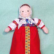 Куклы и игрушки ручной работы. Ярмарка Мастеров - ручная работа текстильная игровая кукла маня в сарафане. Handmade.
