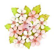 Цветы искусственные ручной работы. Ярмарка Мастеров - ручная работа Цветы для скрапбукинга Prima Marketing Cherry Blossom - Briella. Handmade.
