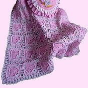 """Для дома и интерьера ручной работы. Ярмарка Мастеров - ручная работа Плед """"Розовые сны"""" в наличии. Handmade."""
