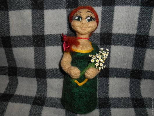 Коллекционные куклы ручной работы. Ярмарка Мастеров - ручная работа. Купить Игрушка валяная Фиона(персонаж из мультика Шрек). Handmade.