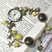 Украшения manualidades. Livemaster - hecho a mano Reloj de pulsera de piedra natural. Handmade.