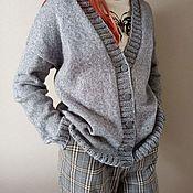 Одежда handmade. Livemaster - original item Knitted basic cardigan made of cotton. Handmade.
