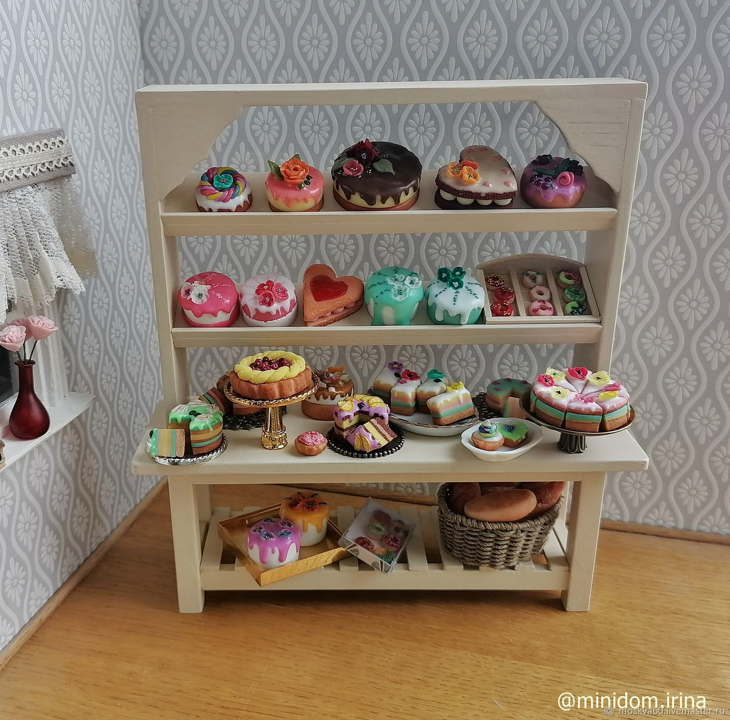 Doll food pastry counter for Dollhouse, Doll food, Moscow,  Фото №1