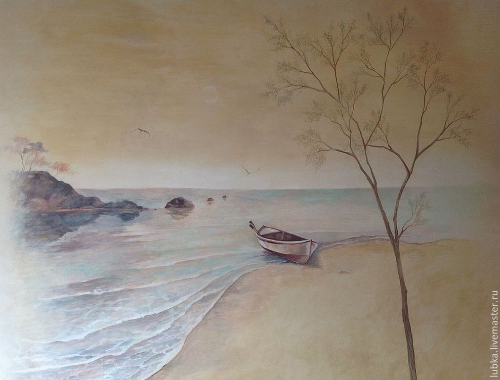Роспись стен в кабинете
