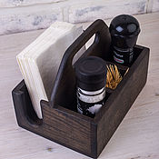 Для дома и интерьера handmade. Livemaster - original item Stand for condiments and napkins 165mm dark oak. Handmade.
