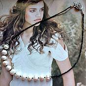 Украшения handmade. Livemaster - original item Pearl necklace and black spinel Charm. Handmade.