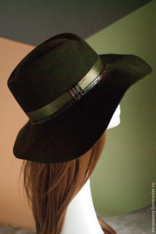 """Шляпы ручной работы. Ярмарка Мастеров - ручная работа. Купить Шляпа-слауч """"Осенний лес"""". Handmade. Болотный, фетровая шляпа"""