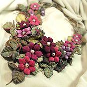 Украшения handmade. Livemaster - original item Forest Berries Sunsets. necklace made of genuine leather. Handmade.