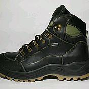 Ботинки ручной работы. Ярмарка Мастеров - ручная работа Зимние кожаные мужские ботинки. Handmade.