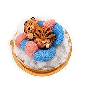 Косметика ручной работы handmade. Livemaster - original item Soap Tiger in handmade mittens a gift for the New Year symbol 2022. Handmade.