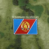 Материалы для творчества handmade. Livemaster - original item stripe flag VDPO, the all - Russia voluntary fire society. Handmade.