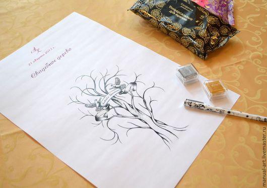 Свадебные аксессуары ручной работы. Ярмарка Мастеров - ручная работа. Купить Дерево для пожеланий 4. Handmade. Белый, Дерево счастья
