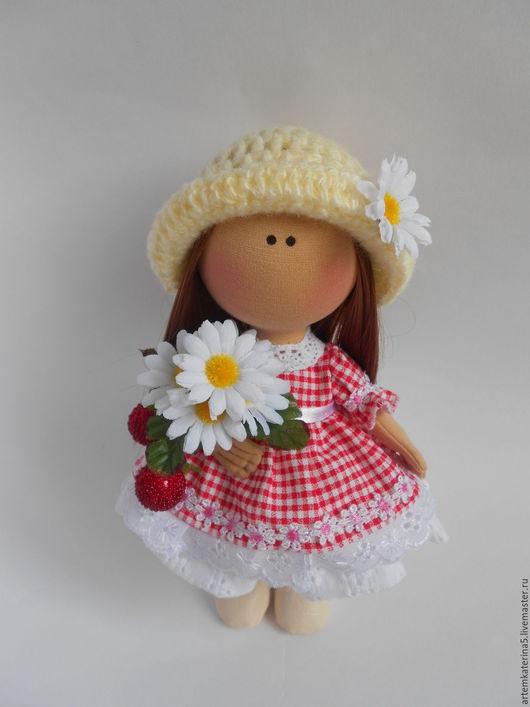 Куклы тыквоголовки ручной работы. Ярмарка Мастеров - ручная работа. Купить Текстильная кукла-малышка. Ягодка. Handmade. Комбинированный, трикотаж