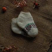 Аксессуары handmade. Livemaster - original item Short socks for kids wool Angora white. Handmade.