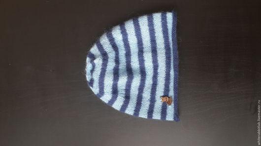 """Шапки ручной работы. Ярмарка Мастеров - ручная работа. Купить шапочка """"морячок"""". Handmade. Комбинированный, в полоску, сине-голубая в полоску"""