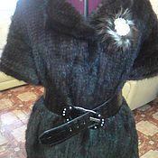 Одежда ручной работы. Ярмарка Мастеров - ручная работа Жилет вязаный из меха норки. Handmade.