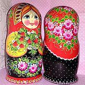 Русский стиль handmade. Livemaster - original item matryoshka 5 PCs, hand-painted Strawberries. Handmade.