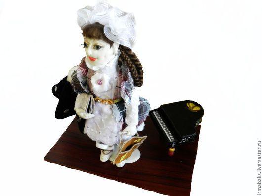 Человечки ручной работы. Ярмарка Мастеров - ручная работа. Купить Ариша. Handmade. Текстильная кукла, синтепон, искусственная кожа, бусины