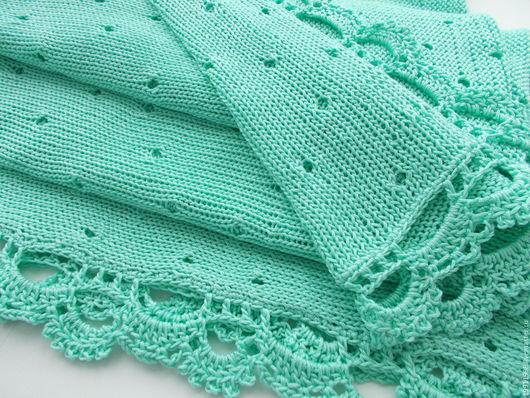 Пледы и одеяла ручной работы. Ярмарка Мастеров - ручная работа. Купить Плед мятный. Handmade. Мятный, плед в коляску