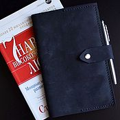 Notebooks manualidades. Livemaster - hecho a mano Leather cover for Moleskine hand stitched seam. Handmade.