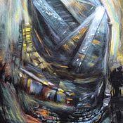 """Картины и панно ручной работы. Ярмарка Мастеров - ручная работа Картина из шерсти """" Город """". Handmade."""
