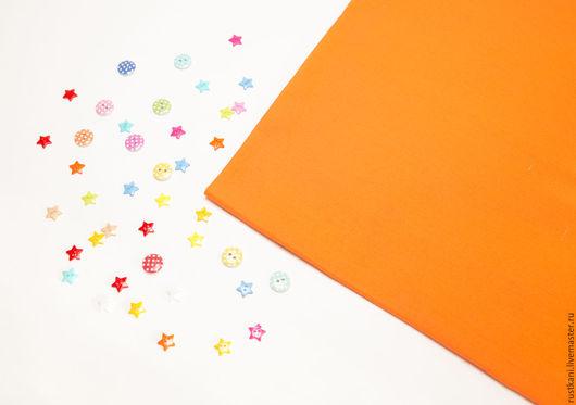 Шитье ручной работы. Ярмарка Мастеров - ручная работа. Купить Бязь оранжевая ГОСТ-100% хлопок-Ткань для рукоделия. Handmade.