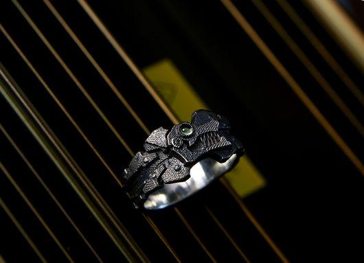 Комплекты украшений ручной работы. Ярмарка Мастеров - ручная работа. Купить Cyber lupus. Handmade. Кольца из серебра, серебряный