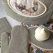 """Для дома и интерьера ручной работы. Ярмарка Мастеров - ручная работа Набор для кухни """"Гуси"""" 4 предмета. Handmade."""